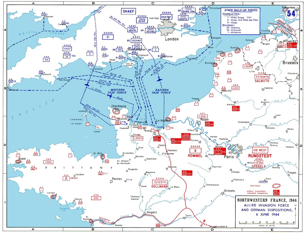 Normandy Invasion Plans Map