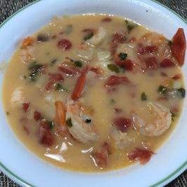 Brazilian shrimp stew or moqueca de camaroes