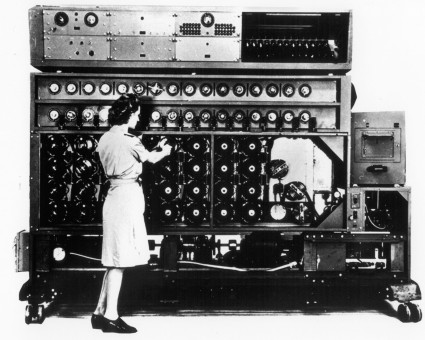 Bombe, an Enigma-decryption machine: U.S. Air Force / National Museum of the Air Force