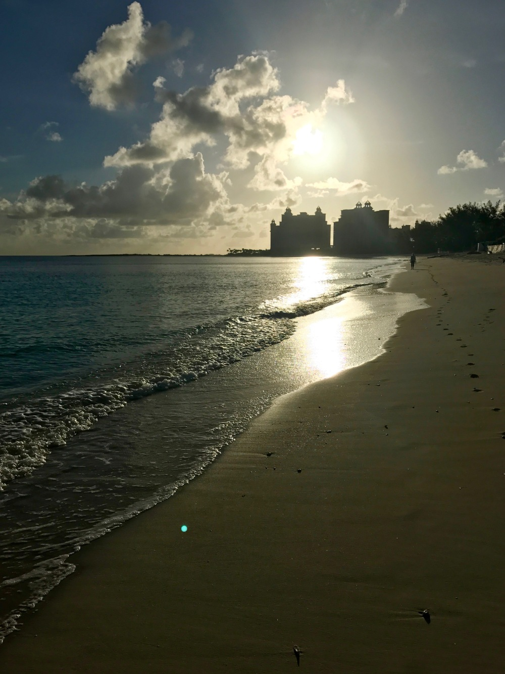 The Bahamas, beach run